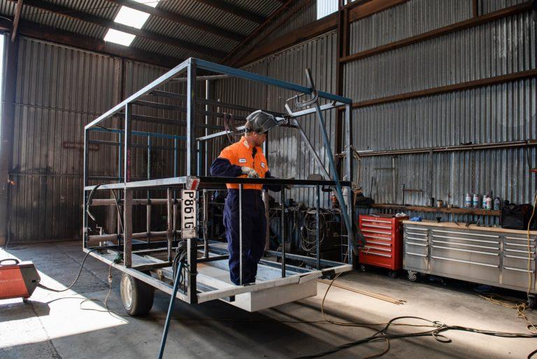Templeton Engineering welding in workshop