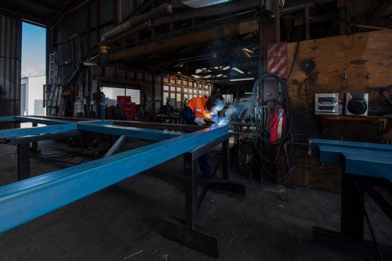 Templeton Engineering inside workshop welding